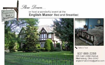 English Manor Bed and Breakfast, Miamisburg, Ohio