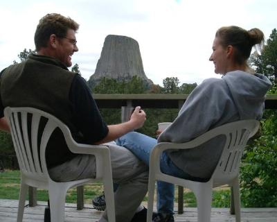 "Enjoy the ""Power of the Tower"" at Devils Tower Lodge."