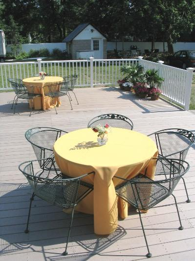 Enjoy the great weather, relaxing or dining on our back patio!