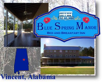Blue Spring Manor Bed and Breakfast, Vincent, Alabama
