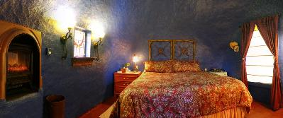 Sleep under the gorgeous domed ceiling in super-comfortable king sized bed in the Sapphire Room