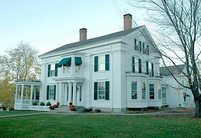 Alden House, an historic 1840 Greek Revival Home, Belfast, Maine